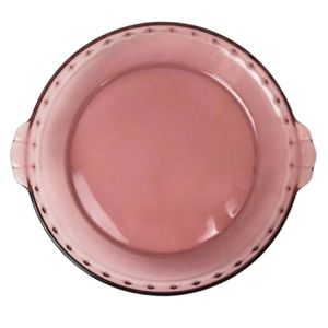 PYREX Vintage Cranberry Pie Dish #229